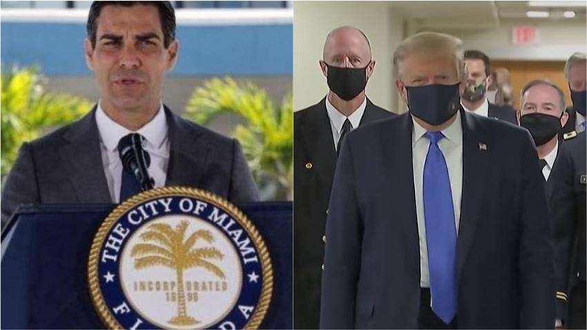 Alcalde de la ciudad de Miami Francis Suárez pide a Trump que emita una orden nacional de usar mascarillas en público