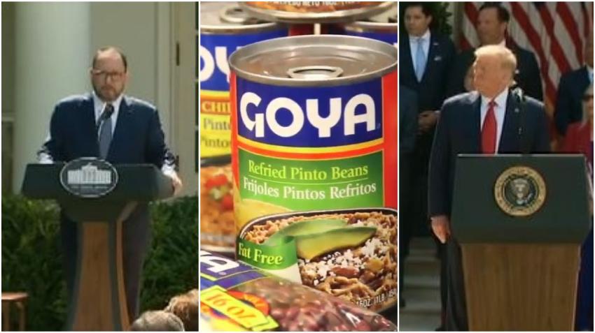 Le hacen boicot a la marca Goya en redes sociales luego de que su CEO elogiara a Trump