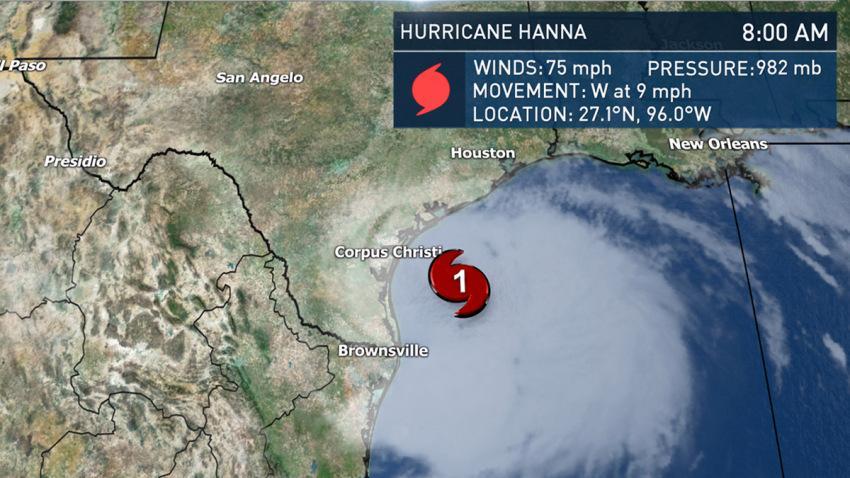 Hanna se convierte en el primer huracán de la temporada 2020 en el Atlántico
