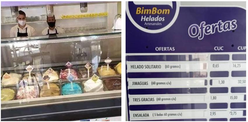 Abre en La Habana con 32 sabores la heladería BimBom de Cimex, pero llueven las críticas por los precios