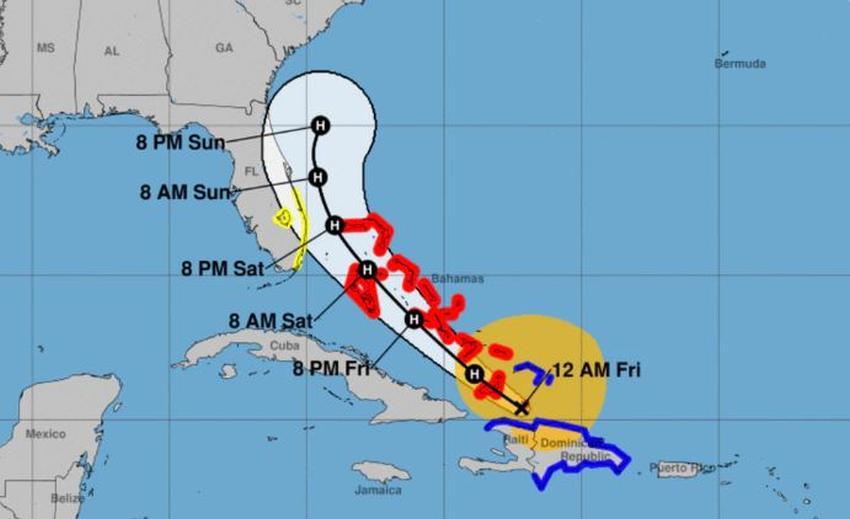 Isaias se convierte en huracán y continúa rumbo hacia el Sur de la Florida
