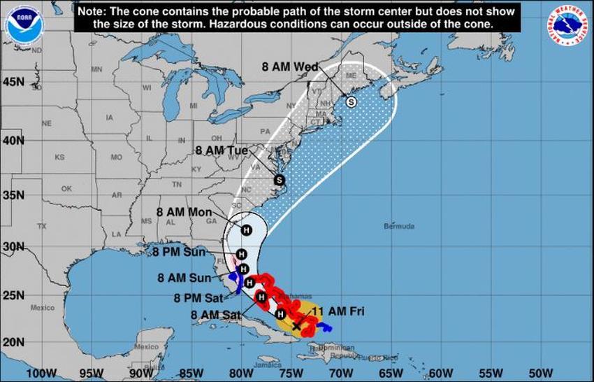Emiten advertencia de huracán para parte del sur de la Florida