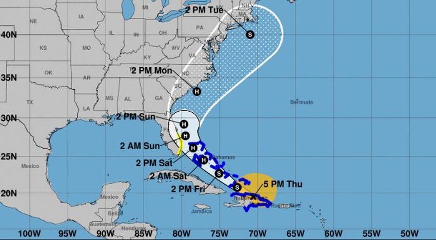 Sur de la Florida entra en alerta de tormenta tropical por Isaias pudiendo convertirse en huracán el viernes