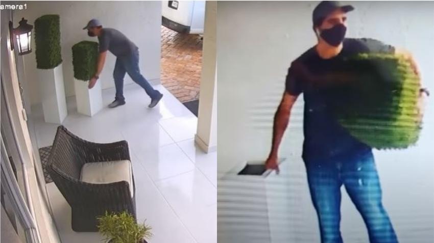 Familia cubana de Hialeah Gardens busca a hombre que robó unas macetas de $800 de su portal