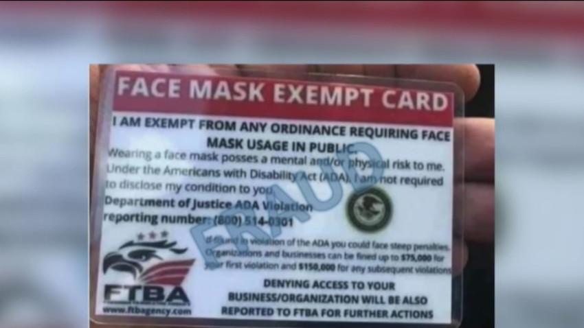 Advierten sobre tarjetas falsas para no usar máscaras faciales