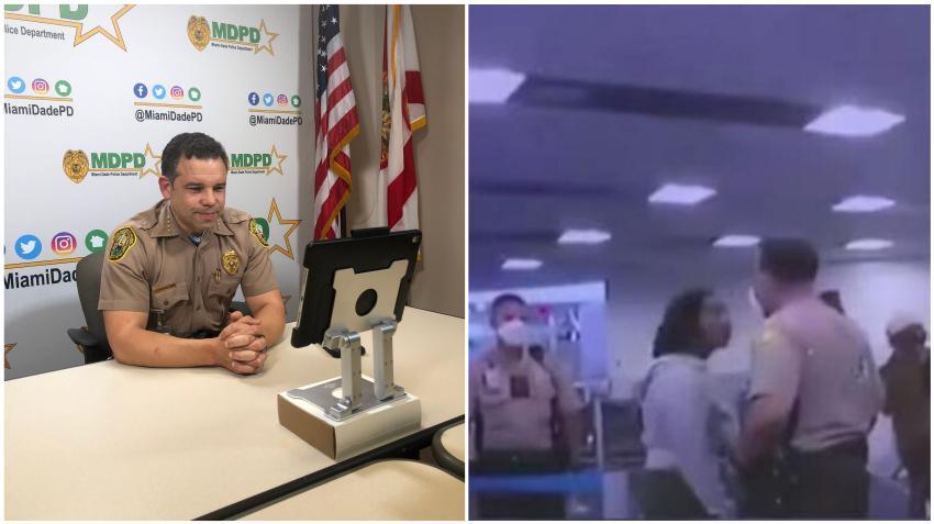 Director de la Policía de Miami-Dade quiere despedir al oficial que fue visto golpeando a una mujer en el aeropuerto de Miami