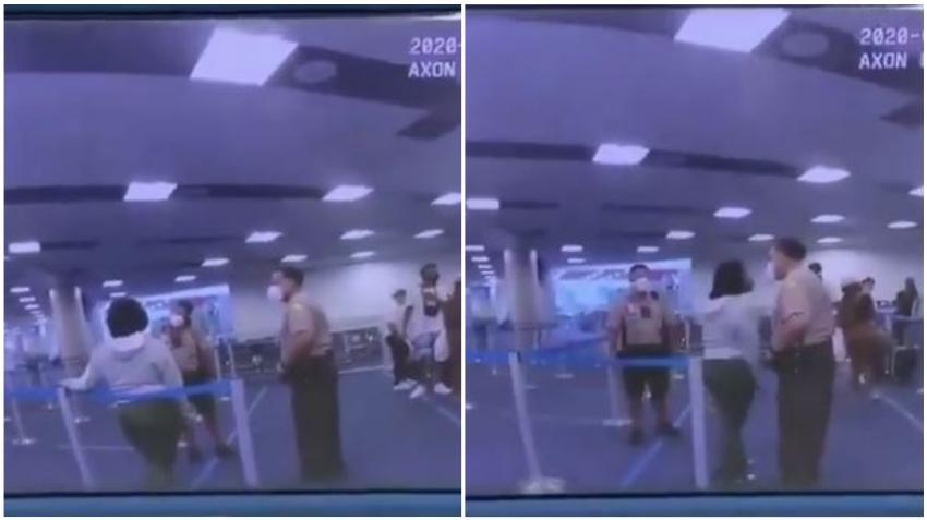 Mujer que fue golpeada por un policía de Miami Dade habría amenazado a empleados de aerolínea