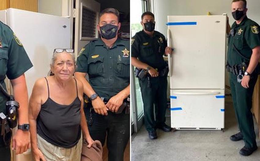 Anciana llama al 911 para reportar que se le rompió el refrigerador y la policía le trae un repuesto