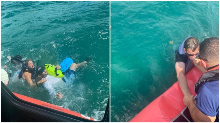 Guardia Costera de los EEUU rescata a cinco personas de un bote que se hundía en los Cayos de la Florida