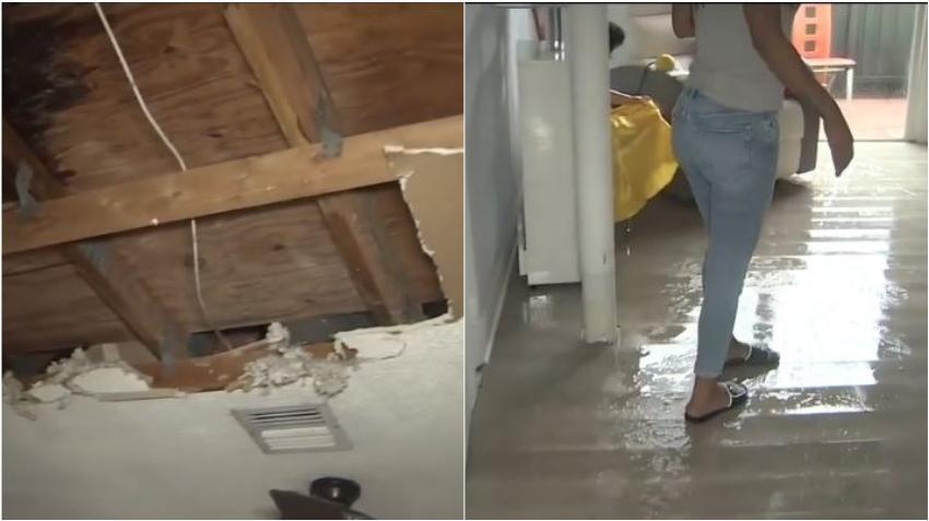 El techo de una casa en el suroeste de Miami Dade colapsa sobre joven madre cubana que llegó de Cuba hace poco tiempo