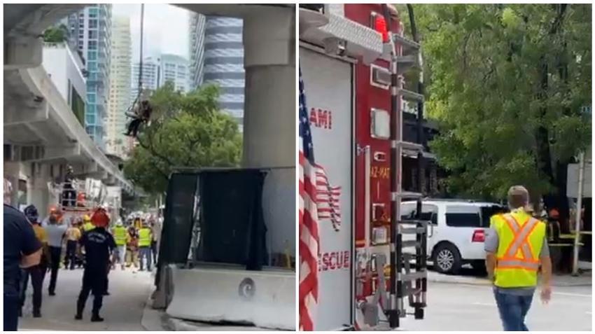 Varios heridos en accidente en una construcción en Brickell; autoridades piden evitar el área