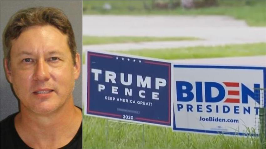 Vecinos en Florida se pelean por carteles políticos de Trump y Biden, uno de ellos termina arrestado