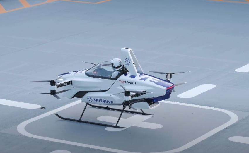 Compañía japonesa prueba con éxito un auto volador tripulado por primera vez