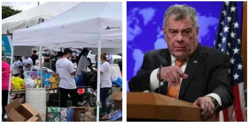 Diplomático estadounidense  recuerda al régimen que está reteniendo miles de libras de ayuda humanitaria donada por cubanos en Miami