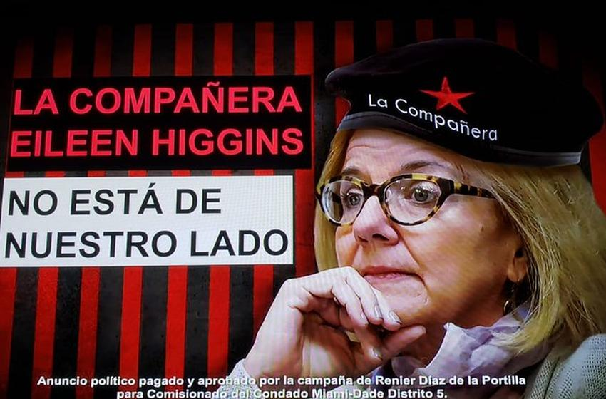 """Lanzan campaña contra comisionada de Miami-Dade que busca reelección con carteles con la boina del Che y llamándola """"Compañera"""""""