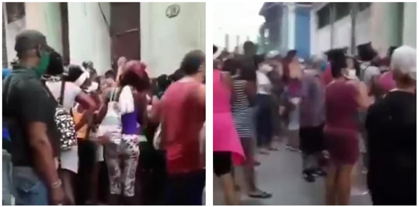 Así las colas en La Habana, pese al aumento de casos de Covid-19