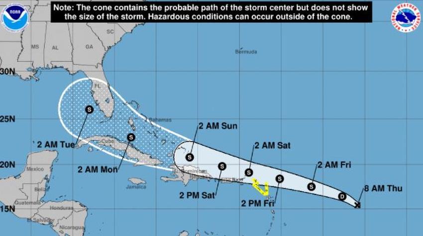 Se forma la depresión tropical número 13 en el Atlántico; podría afectar a Cuba y Florida