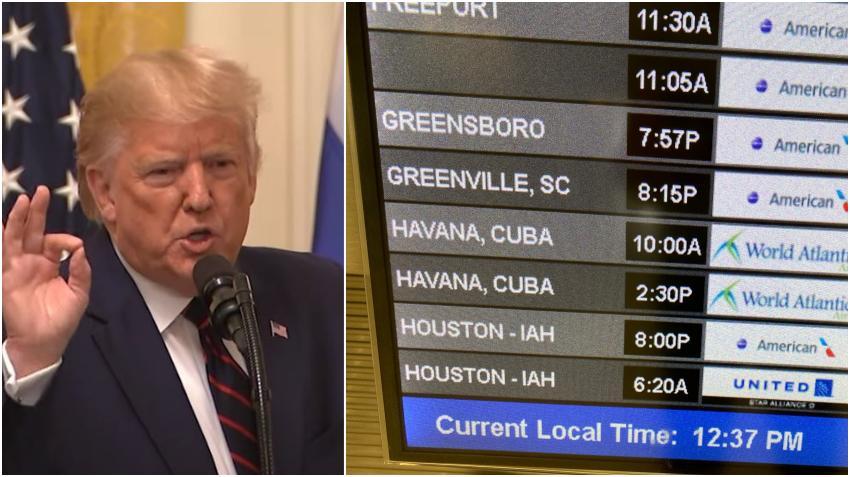 Administración Trump suspenden los vuelos chárter privados Cuba
