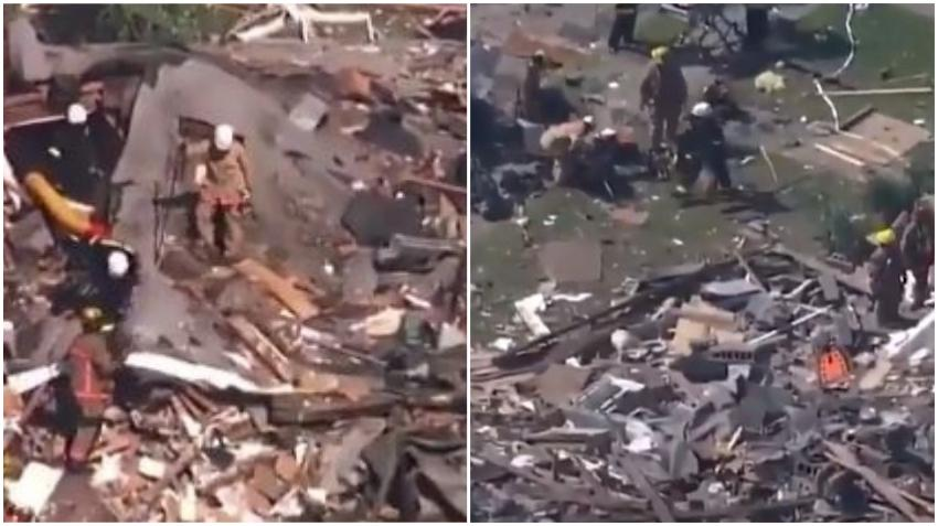 Una gran explosión de gas arrasa viviendas en el noroeste de Baltimore, matando a una persona e hiriendo gravemente a otras