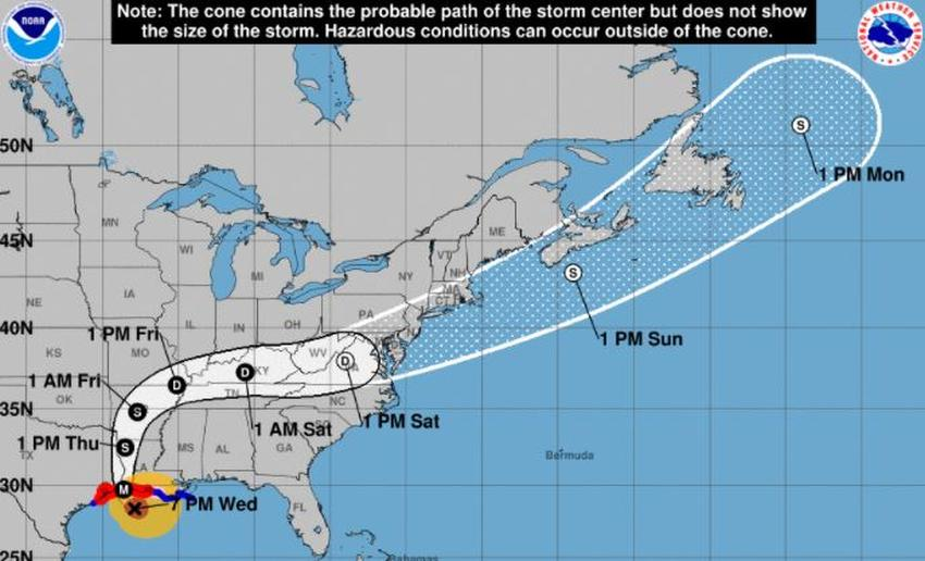 Huracán Laura próximo a convertirse en Categoría 5 antes de tocar tierra en Louisiana