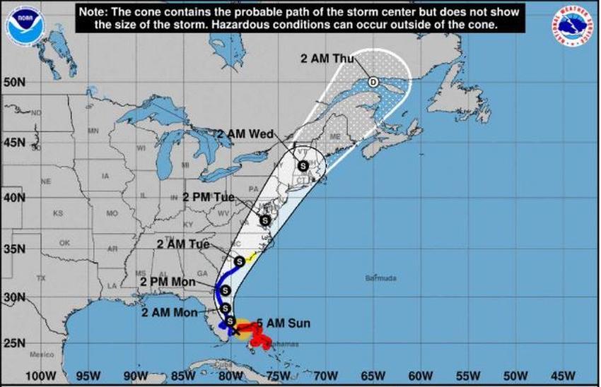 Cancelan aviso de huracán para la Florida mientras Isaias se debilita