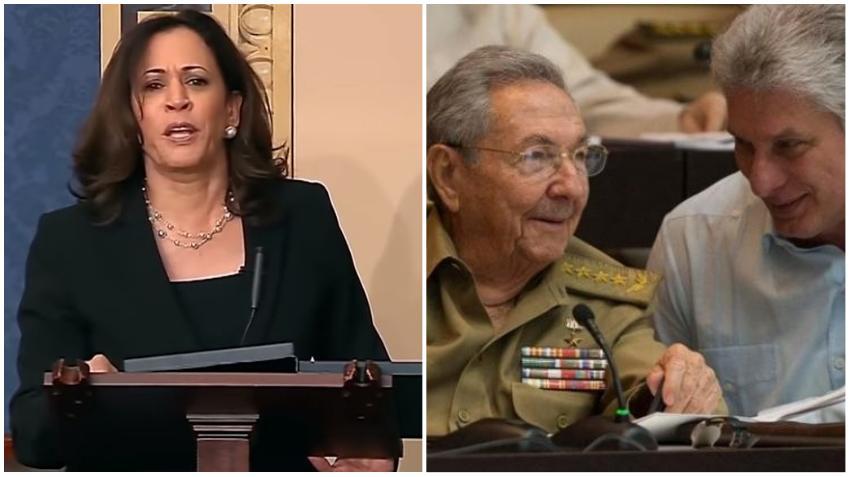Candidata demócrata a vicepresidente Kamala Harris evita dar una respuesta clara en relación a la política hacia Cuba