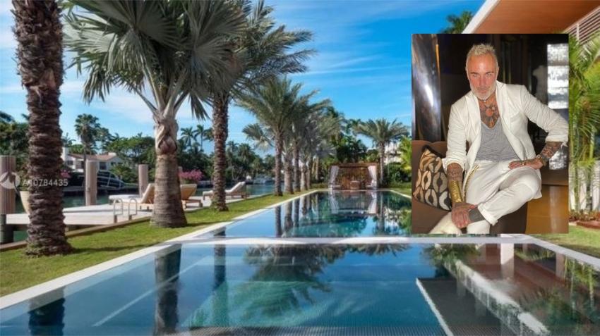 Multimillonario italiano Gianluca Vacchi se compra impresionante mansión en Miami Beach por 24.5 millones de dólares