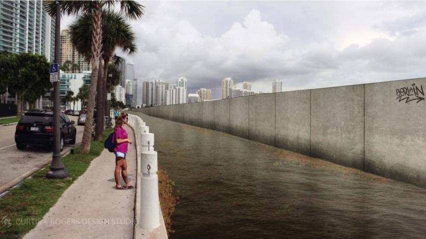 Planes de construir un muro a lo largo de la Bahía de Biscayne en Miami crea polémica