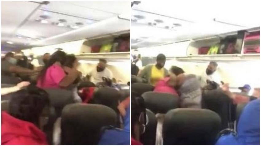 Dos mujeres se enfrentan a golpes en un vuelo de American Airlines tras una disputa por la máscara