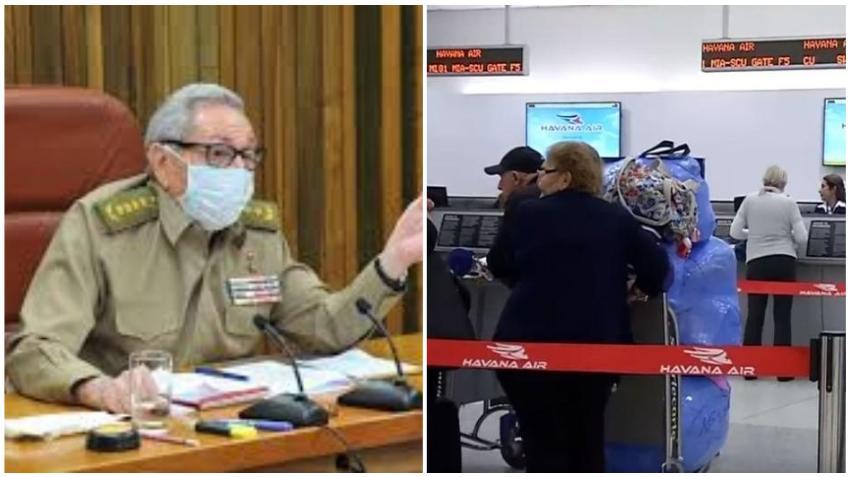 Raúl Castro ordena que los vuelos en Cuba no se reanuden hasta que el virus no sea controlado en La Habana