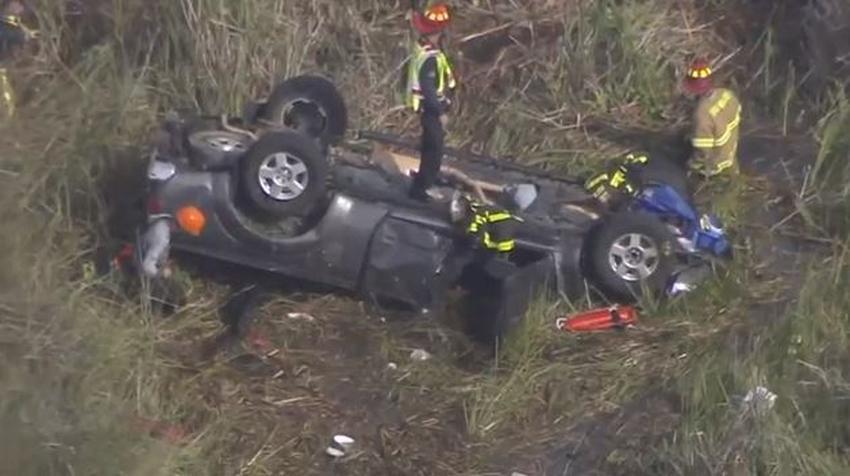 Nadie usaba cinturón de seguridad en accidente en la I-75 donde murió expulsado del vehículo un niño de 1 año