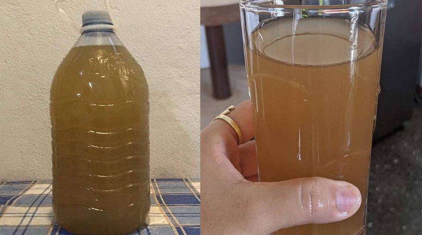 """Residentes de un reparto en Cienfuegos se quejan de que el agua llega """"color marrón y sabe a tierra"""""""