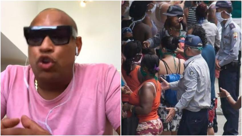 Alexander Delgado de Gente de Zona vuelve a criticar la represión policial en Cuba y la miseria del pueblo cubano