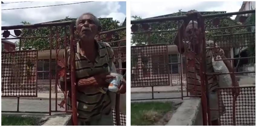 """Anciano que dice haber sido Mayor del MININT ahora pide comida por las calles: """"Y me di cuenta de todo...pedí la baja del PCC"""""""