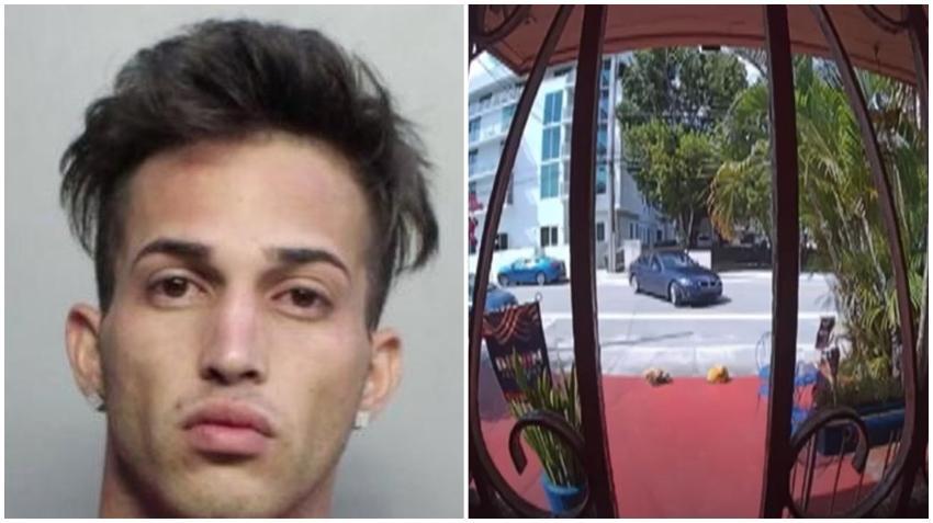 Arrestan a joven cubano de Miami que en un BMW iba robando paquetes de los portales de varias viviendas