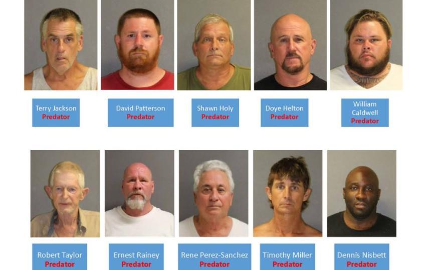 Operativo en Florida Central culmina con el arresto de 46 depredadores y delincuentes sexuales