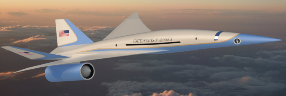 Muestran prototipo supersónico del avión presidencial Air Force One que estaría listo para el 2025