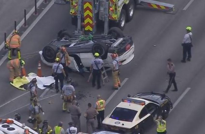 Cierran vías del Palmetto Expressway por accidente que dejó una persona muerta en Miami