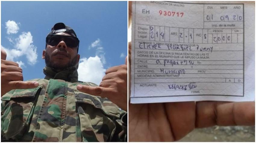 Cubano en Cuba se queja de una multa de 2000 pesos por bajarse la máscara para escupir