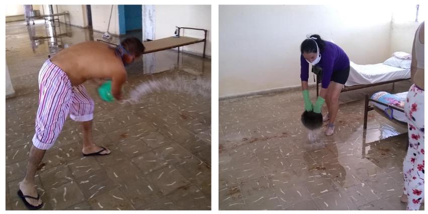 Personas con sospecha de haber contraído el Covid-19 obligados a limpiar centro de aislamiento en Yaguajay, Sancti Spíritus