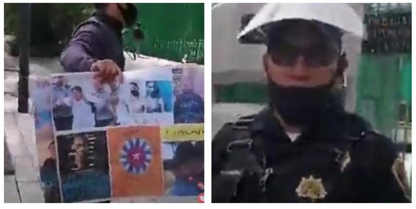 """La policía intentó impedir manifestación de cubanos frente a la Embajada del régimen en México: """"El brazo largo del Gobierno"""" de Cuba"""