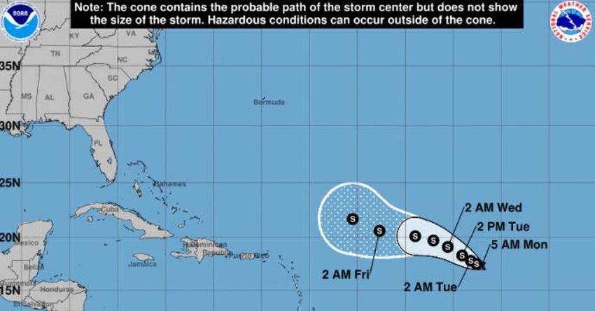 Se forman en el Atlántico la depresión tropical número 17 y 18