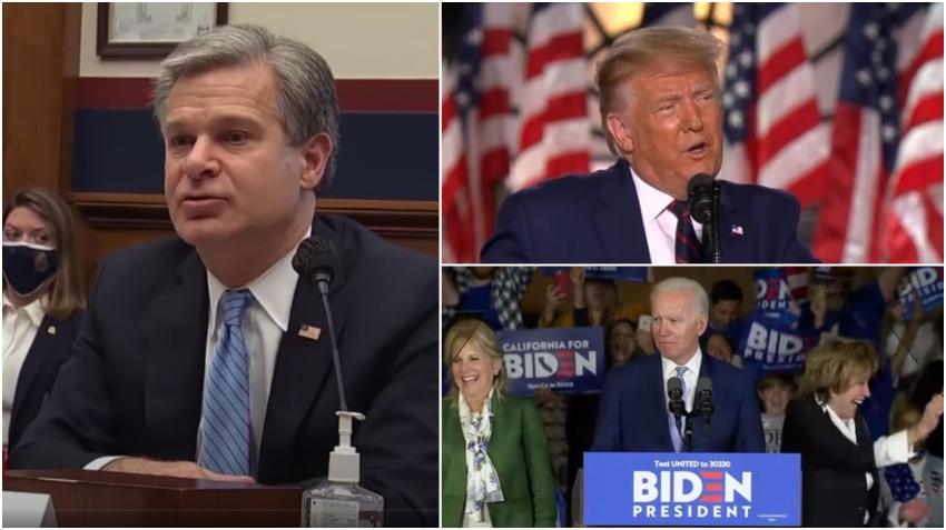 Director del FBI asegura que Rusia está activamente tratando de perjudicar a Joe Biden en las elecciones