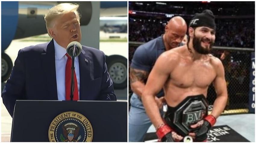 Presidente Trump se declara fan del peleador cubano  Jorge Masvidal durante su visita a Miami