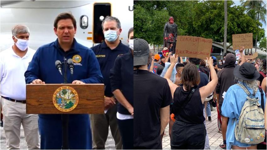 Gobernador de Florida anuncia condenas más duras para protestantes violentos y penalidades a ciudades que quiten fondos a la policía
