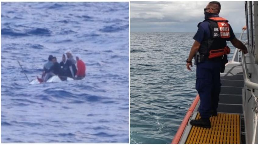 Guardia Costera de Estados Unidos intercepta a 5 balseros cubanos cerca de los Cayos de la Florida