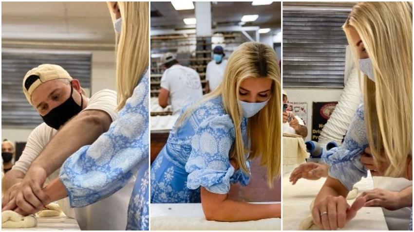Ivanka Trump aprende a hacer pan cubano durante su visita a Florida