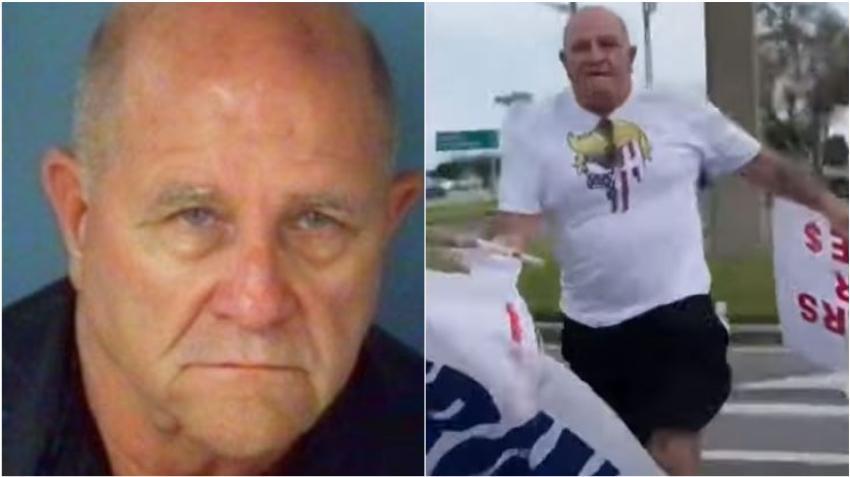 Manifestante a favor de Trump en Florida es acusado de abuso infantil tras golpear a una niña de 13 años con el asta de una bandera