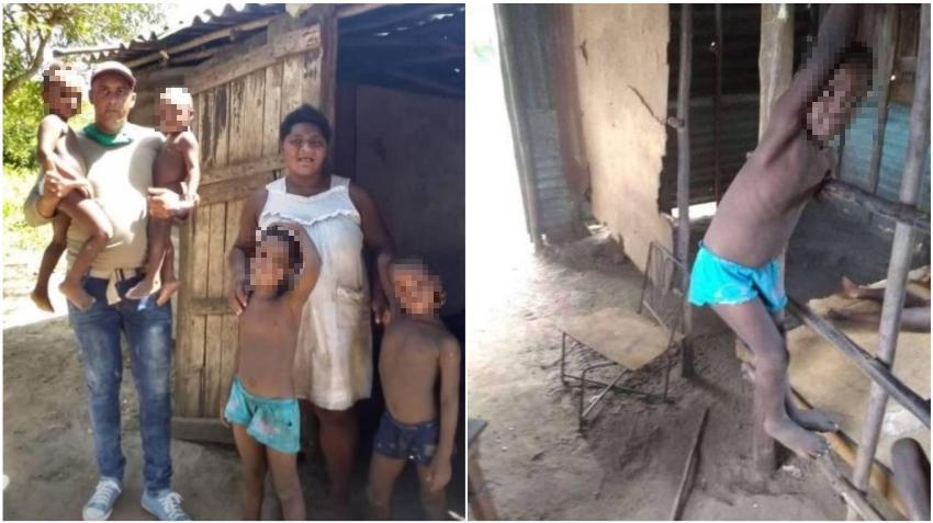 Denuncian en las redes la extrema pobreza de una madre cubana y sus cinco hijos en Pinar del Río