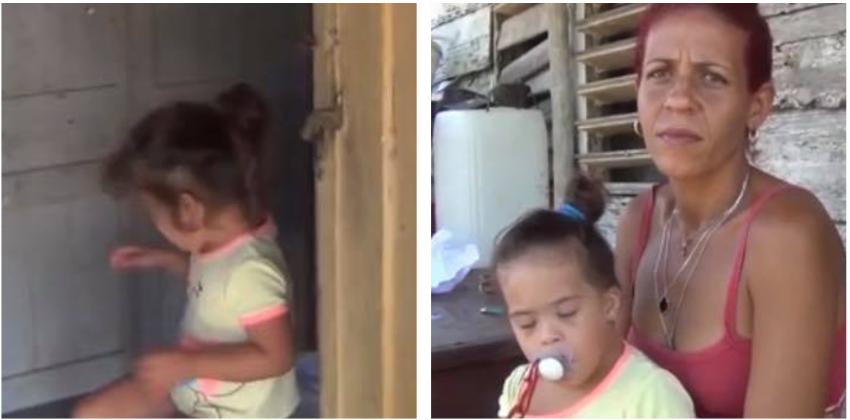 Niña cubana con síndrome de Down vive en condiciones inhabitables y necesitada de artículos de aseo, denuncia su madre